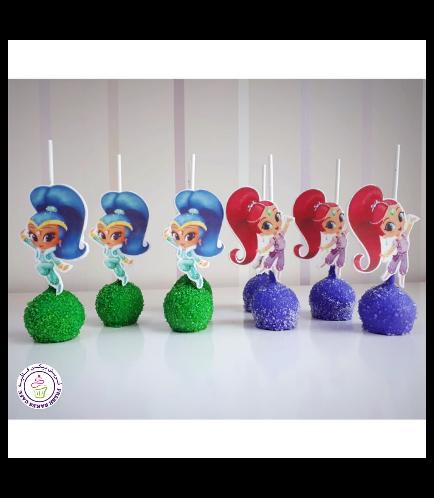 Shimmer & Shine Themed Cake Pops