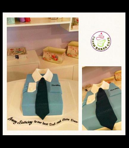 Shirt & Tie Themed Cake 01