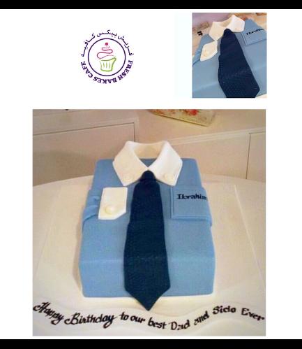 Shirt & Tie Themed Cake - Rectangular 01