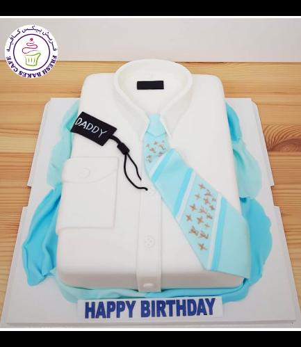 Shirt & Tie Themed Cake - Rectangular 03