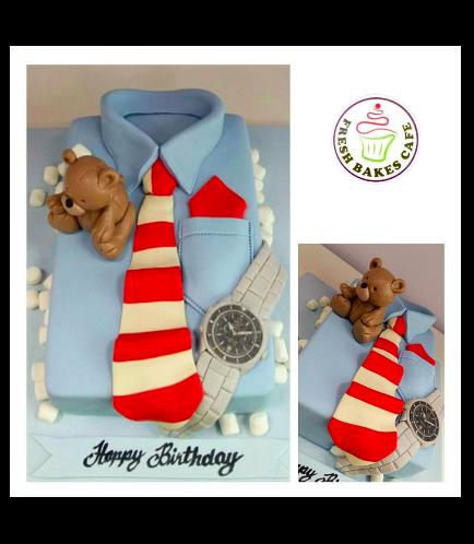 Shirt & Tie Themed Cake - Rectangular 02