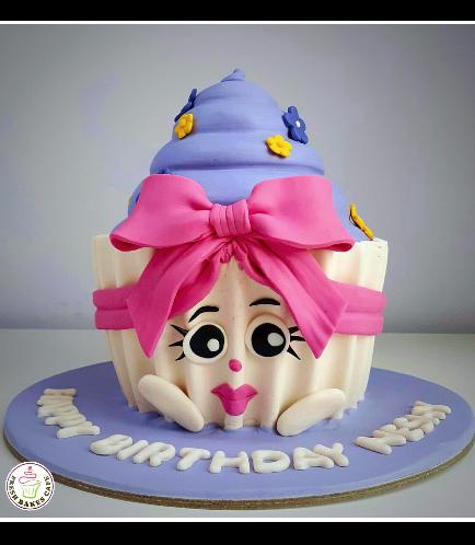 Shopkins Themed Mega Cupcake