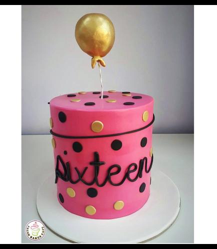 Sixteen Themed Cake 01a