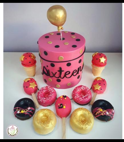 Sixteen Themed Cake 01b