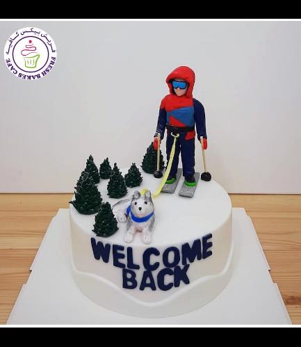 Ski Themed Cake 03