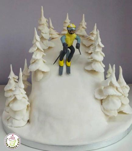 Ski Themed Cake 02