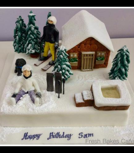 Ski Themed Cake 1