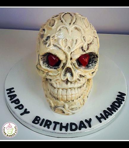 Skull Themed Cake 01a