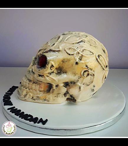 Skull Themed Cake 01b