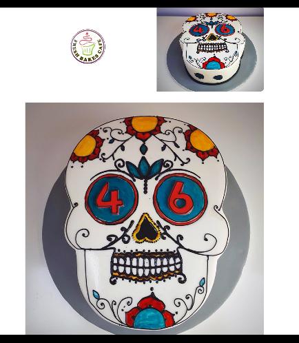 Skull Themed Cake 03
