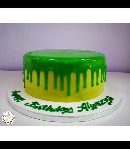 Slime Themed Cake