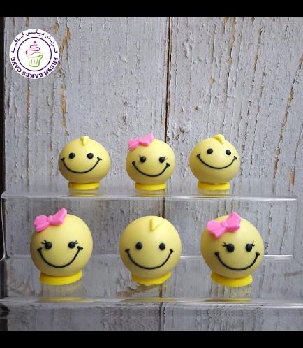 Smiley Themed Cake Pops w/o Sticks 03
