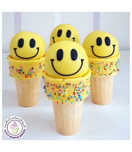 Smiley Themed Cone Cake Pops 02