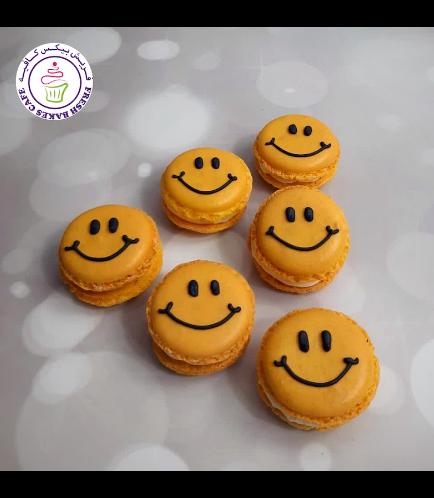 Smiley Themed Macarons