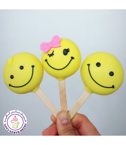 Smiley Themed Popsicakes 01
