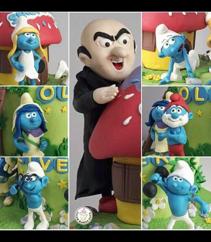 Smurfs Themed Cake 02c