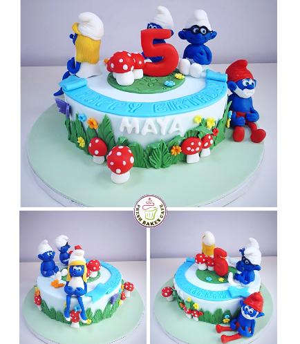 Smurfs Themed Cake 03