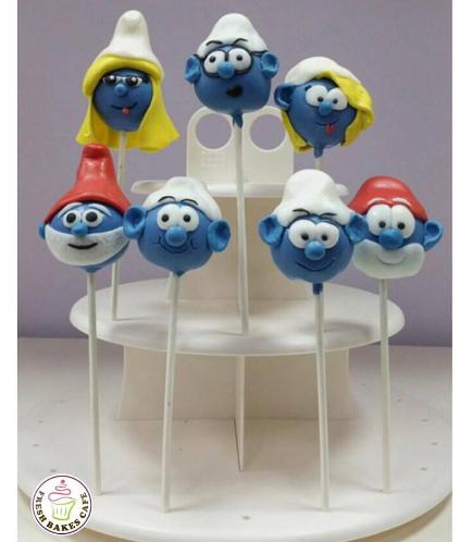 Smurfs Themed Cake Pops