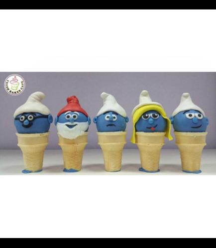 Smurfs Themed Cone Cake Pops
