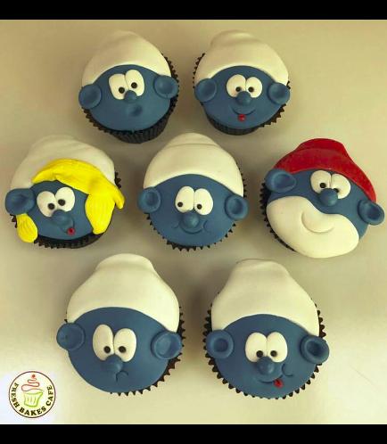 Smurfs Themed Cupcakes 1
