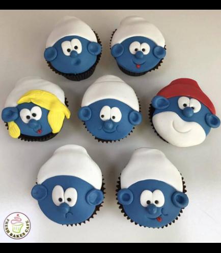 Smurfs Themed Cupcakes