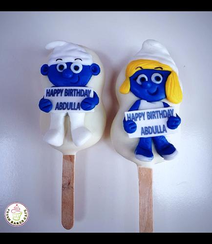 Smurfs Themed Popsicakes
