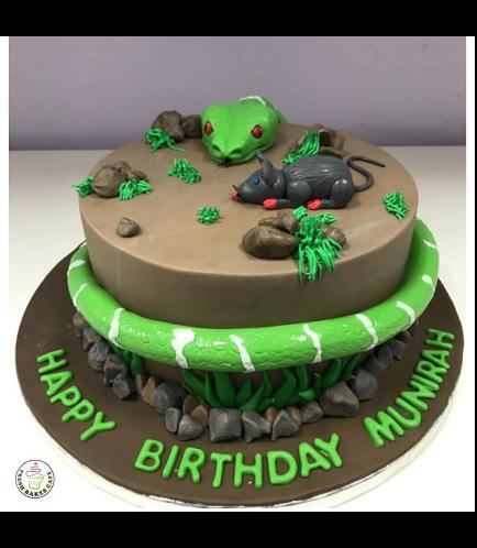 Snake & Rat Themed Cake - 3D Cake Toppers