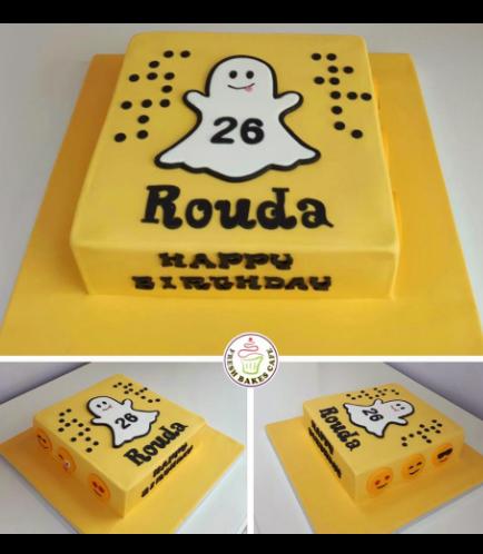 Snapchat Themed Cake