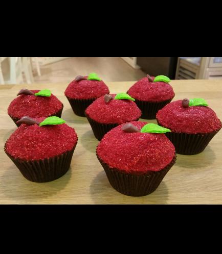 Apple Themed Cupcakes