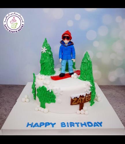 Snowboarding Themed Cake