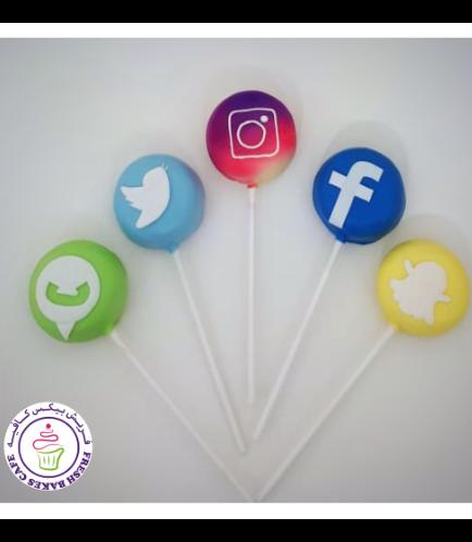 Social Media Themed Donut Pops