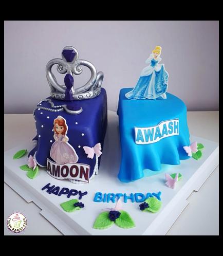 Cake - Sofia the First & Cinderella