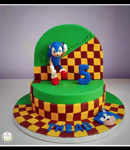 Sonic the Hedgehog Themed Cake 02