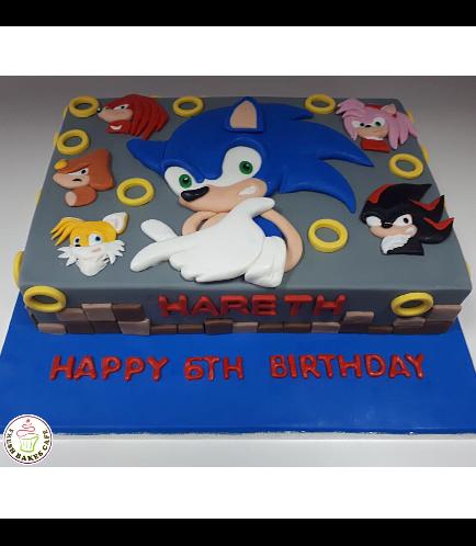 Sonic the Hedgehog Themed Cake 03