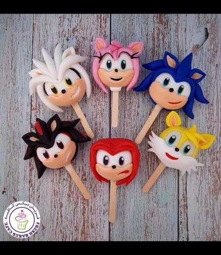 Sonic Themed Popsicakes