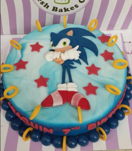 Sonic the Hedgehog Themed Cake 01