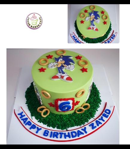 Sonic the Hedgehog Themed Cake 04