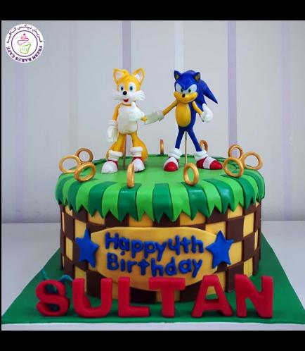 Sonic the Hedgehog Themed Cake 06