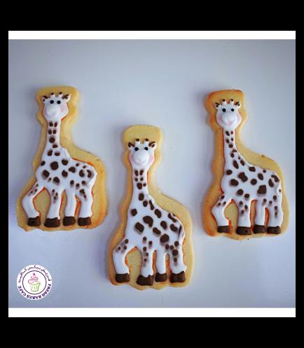 Giraffe Themed Cookies - Sophie the Giraffe