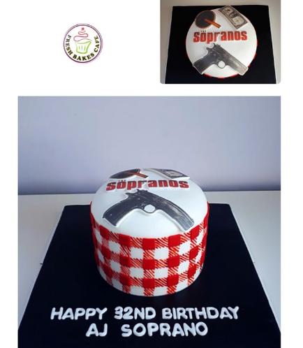 Sopranos Themed Cake