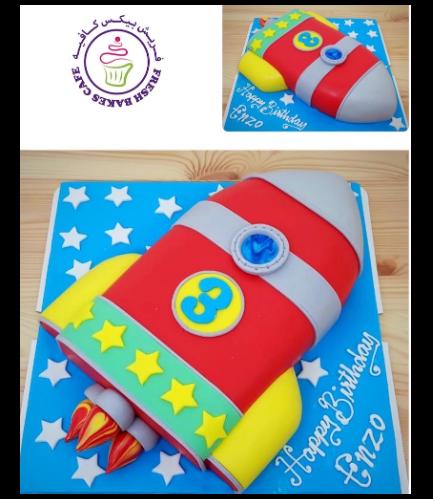Cake - Space - 2D Cake - Rocket Ship 01a