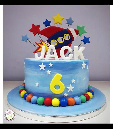 Cake - Space - 2D Cake Topper - Rocket Ship 01a