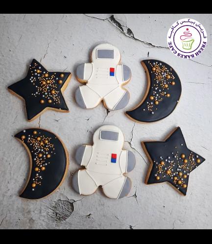 Cookies - Space - Astronaut, Star, & Moon