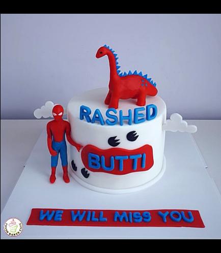 Dinosaur & Spider-Man Themed Cake