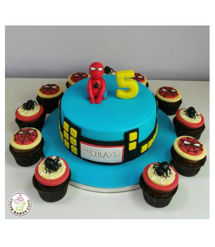 Spider-Man Themed Cake - 3D Character - 1 Tier 05