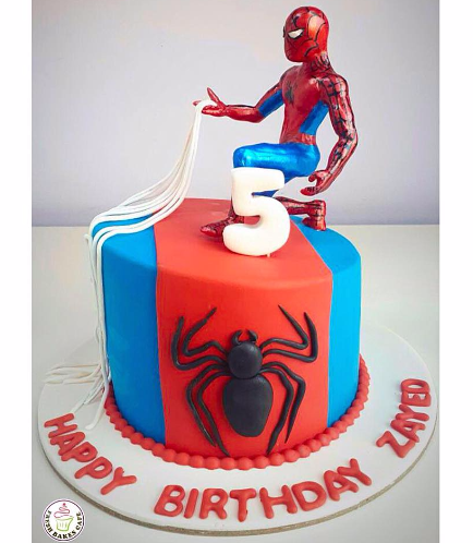 Spider-Man Themed Cake - 3D Character - 1 Tier 07a
