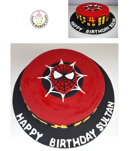 Spider-Man Themed Cake - 2D Fondant Picture 02