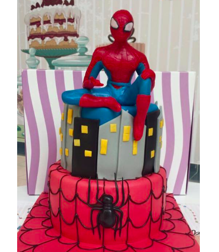 Spider-Man Themed Cake - 3D Character - 2 Tier 01
