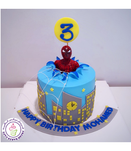 Spider-Man Themed Cake - 3D Character - 1 Tier 12