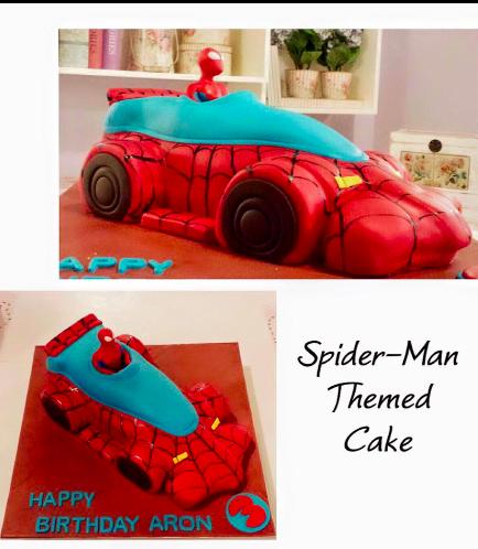 Spider-Man Themed Cake - 3D Spider-Man Car